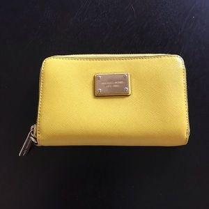 Michael Kors Small Yellow Wallet